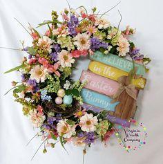 Easter Bunny Grapevine Wreath, Easter Wreath, Easter Decor, Easter Door Hanger