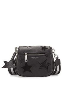 Marc Jacobs Star Patchwork Small Saddle Bag, Black/Multi  https://api.shopstyle.com/action/apiVisitRetailer?id=530562354&pid=uid2500-37484350-28
