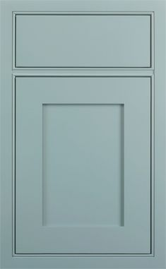 Kingston Recessed door style by #WoodMode, shown in Designer opaque Cadet Blue finish on maple.