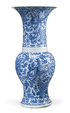 A Chinese porcelain blue and white vase, Kangxi period, circa 1700