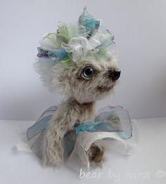 flower fairy Crystallin By Iveta Raková - Bear Pile Softies, Hand Sewing, Arms, Fairy, Teddy Bears, Flowers, Animals, Color, Sewing By Hand