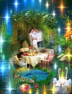Good Night Baby, Good Morning My Love, Good Morning Flowers, Good Morning Wishes, Good Night Beautiful, Beautiful Gif, Birthday Songs, World Of Fantasy, Most Beautiful Gardens