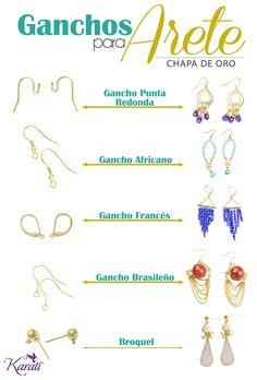 #ganchosparaarete #chapadeoro #aretes www.karati.com