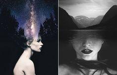 Poetic Double Exposure Portraits
