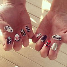"""Miley Cyrus Bangerz""  Inspired Nails"