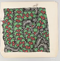 Various Unknown Designers  Manufacturer: Wiener Werkstätte Date: early 20th Century Culture: Austrian Medium: Silk Dimensions: Greatest: H. 8, W. 9 inches (20.3 x 22.9 cm.) Classification: Textiles Credit Line: Rogers Fund, 1954