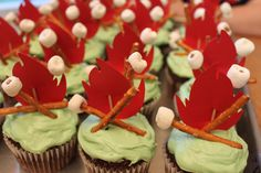 scout cupcakes | for the cub scout blue gold banquet this year s make campfire cupcakes