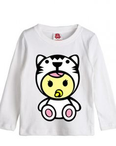 Unique design tiger long sleeve t shirt for kids ultra cute cartoon animal tee- Tiger T Shirt, Spring Wear, Sweatshirts, Unique, Long Sleeve, Sweaters, Cotton, How To Wear, Black