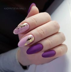 Новости Pink Nails, Matte Nails, Gold Tip Nails, Purple Manicure, Foil Nail Designs, Manicure Nail Designs, Manicure At Home, Nail Manicure, Nail Polish
