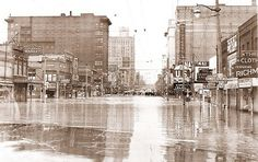 Downtown Flint Flood 1947