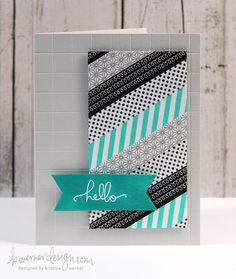 washi stripes from @Kristina Kilmer Kilmer Kilmer Kilmer Kilmer Kilmer Werner
