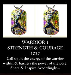 FREE SHIPPING - Inspiration Tag 1027  WARRIOR 1  $23.95.  Harness the power of the pose. Wear and share for strength and courage.  Namaste!  Artwork from the ELECTRIC CHI YOGA eBook on http://www.amazon.com/NAKED-MEDITATIONS-ELECTRIC-Meditations-Electri-ebook/dp/B006M6Y2ZU