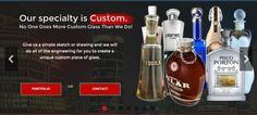 Custom Glass Liquor Bottles   Built in China