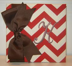 Chevron with Large Bow available in 7 colors by doodlebugsga Purchase at www.doodlebugsga.etsy.com
