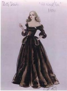 Edith Head Design for Bette Davis in All about Eve