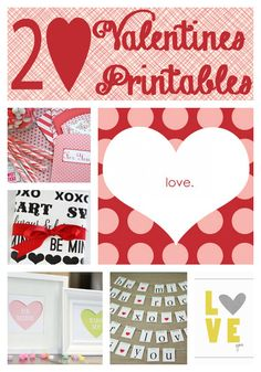 20 free Valentines printables on iheartnaptime.net ...so many cute ideas!