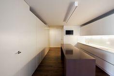 House Built Into the City by Fran Silvestre Arquitectos (2) kuchnia ściany