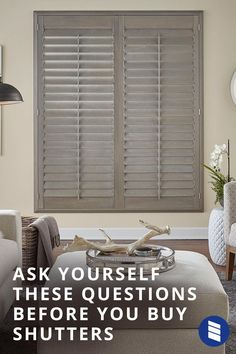 Shutters are the epitome of classic style and durability, so it's no wonder they're on the rise. With more customers shopping for shutters than ever, we wanted to answer your top questions. Bathroom Window Treatments, Window Treatments Living Room, Living Room Windows, Living Room Decor, Bedroom Decor, Interior Window Shutters, House Shutters, Wood Shutters, Traditional Shutters