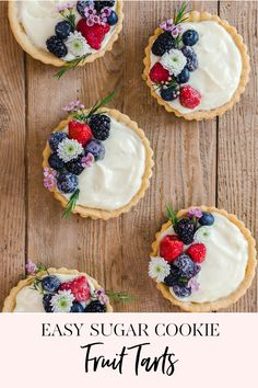 #ad Easy Sugar Cookie Fruit Tarts | Spring is here which means countless wonderful excuses to make beautiful treats and spoil those around you.  Mother's Day, spring tea parties, ladies lunches, baby and bridal showers, you name it, lots of reasons to celebrate.  I am a big fan of how real fruit looks on dessert so I thought it would be exciting to experiment with a fruit tart. || JennyCookies.com #handmadewithjoann