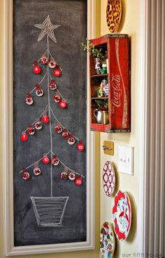 christmas in our kitchen chalkboard tree advent calender