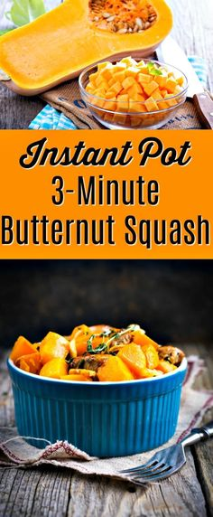 Make a delicious butternut squash side dish with autumn spices in 3-minutes! You'll need an Instant Pot for this delicious Thanksgiving side dish. Serve it all year round. Pumpkin spice, butternut, pressure cooker, vegetarian. #butternutsquash #holidayrecipe #instantpot #veganfood #paleofood #sidedish