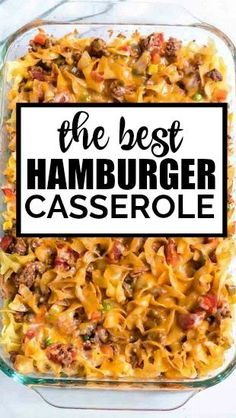 Hamburger casserole is one-dish comfort food at it's finest. Baked with noodle. - Hamburger casseroles recipes - Easy Ground Hamburger casserole is one-dish comfort food at it's finest. Baked with noodle. Easy Hamburger Casserole, Beef Casserole Recipes, Easy Meat Recipes, Cooking Recipes, Hamburger Ideas, Chicken Casserole, Pasta Recipes, Casseroles With Hamburger Meat, Casseroles With Ground Beef