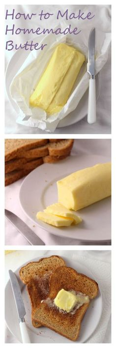 How to Make Homemade Butter - a simple and delicious recipe to try!