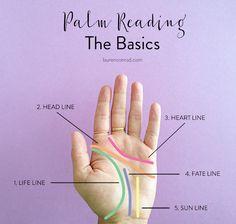 Palm reading basics by LaurenConrad.com