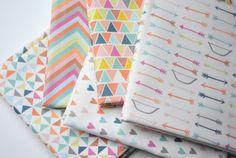 bows and arrows - original fabric - fat quarter - pastel fabric. $9.00, via Etsy.
