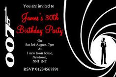 007 invitation card 007 pinterest 50th party birthday invitation cards for adults i like the 007 stopboris Images