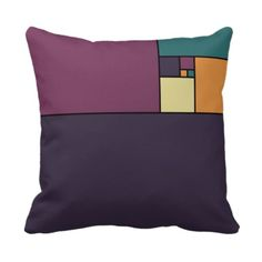 Golden Ratio Squares Throw Pillows.  I want this in quilt form!