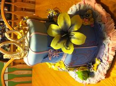 Tangled birthday cake flower instead of figures