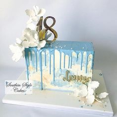 Modern rectangle cake - cake by Denise Modern rectangle cake – cake by Denise Square Cake Design, Square Cakes, Chocolate Cake Designs, Best Chocolate Cake, Pretty Cakes, Beautiful Cakes, Square Birthday Cake, Modern Birthday Cakes, Cake Birthday