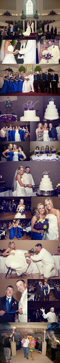 part 2 of blue, purple, green wedding