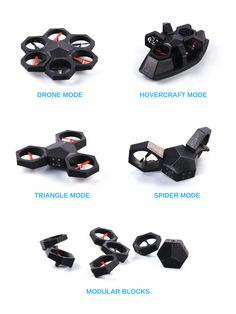 The first modular drone that can be turned into a hovercraft car and more! It - Drones - Ideas of Drones - The first modular drone that can be turned into a hovercraft car and more! It does stunts through drag-and-drop programming. Latest Drone, New Drone, Drone Diy, Small Drones, Phantom Drone, Drone For Sale, Drone Technology, Medical Technology, Energy Technology