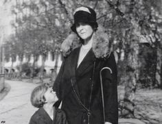 "Princess Olga Valerianovna Paley and great great nephew,Prince Mikhail Feodorovich Romanov of Russia. ""AL"""