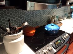 octagonal kitchen backsplash.