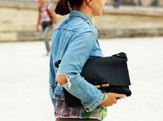 STREETSTYLE: DENIM JACKETS | My Daily Style en stylelovely.com