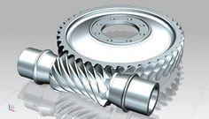 Globoid Gear set 41/8 - STEP / IGES,NX - 3D CAD model - GrabCAD