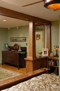 Stickley Arts and Crafts Bedroom - craftsman - Masterworks Window Fashions & Design