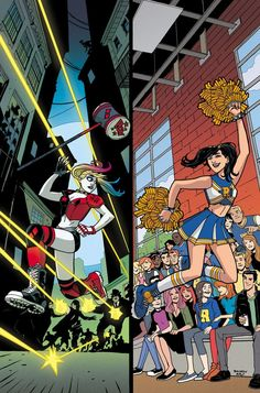 "Harley & Ivy Meet Betty & Veronica #3 by Sandy Jarrell  "" HARLEY & IVY MEET BETTY & VERONICA #3  Written by PAUL DINI and MARC ANDREYKO  Art by LAURA BRAGA  Cover by SANDY JARRELL  Variant cover by STEPHANIE HANS  Betty and Veronica wake up in a place that..."