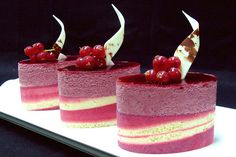 Red current delice by confectionery artist Peter Arthold, via Flickr. #dessert #wedding