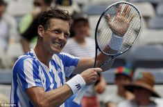 Tomas Berdych at the Australian Open 2014