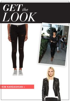 Kim K loves black, and we do too! Get her look.