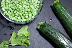 pea zucchini mint baby food puree homemade