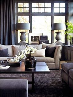 Mix dark and light colors to add personality to the room!  Luxurious interior design ideas perfect for your projects. #interiors #design #homedecor www.covetlounge.net
