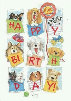 Happy Birthday with dogs