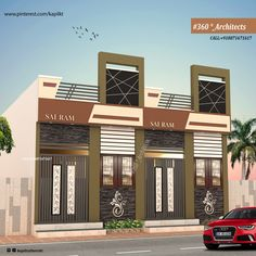 House Main Gates Design, House Elevation, House Plans, Cool Designs, Mansions, House Styles, Modern, Home Decor, Trendy Tree