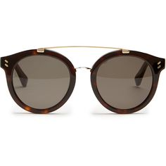 Stella McCartney Round-frame acetate sunglasses ($208) ❤ liked on Polyvore featuring accessories, eyewear, sunglasses, glasses, oculos, acetate sunglasses, tortoise sunglasses, stella mccartney, oval sunglasses and tortoise shell glasses