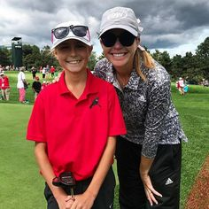 It's Canadian Open time  This girl not only got to walk with Paula Creamer on the 15th hole but also got to carry her bag! What a champ!